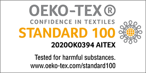 OEKO-TEX®<br>confidence in textiles<br>STANDARD 100